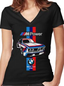 BMW CSL Series Women's Fitted V-Neck T-Shirt