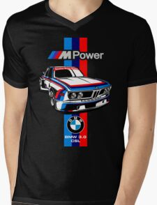 BMW CSL Series Mens V-Neck T-Shirt