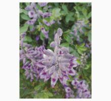 Purple Flowers 3 One Piece - Short Sleeve