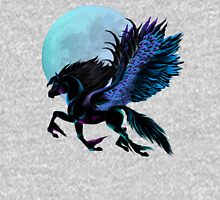 Black Pegasus and Blue Moon Womens Fitted T-Shirt