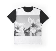 Peach Blossoms in B/W Graphic T-Shirt