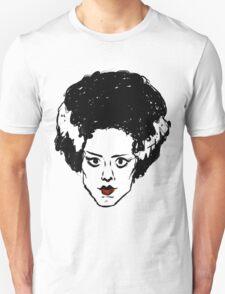 Frankenstein's Bride Line Drawing T-Shirt