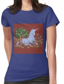 Medieval Unicorn Womens Fitted T-Shirt
