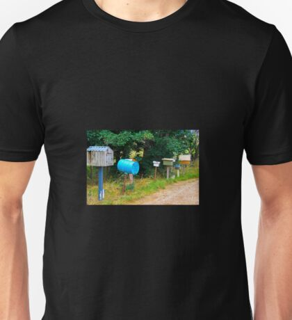 Letter boxes at attention Unisex T-Shirt