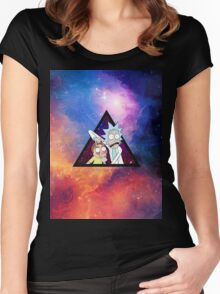 Rick and morty spaceeee. Women's Fitted Scoop T-Shirt