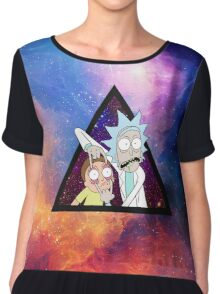 Rick and morty spaceeee. Chiffon Top