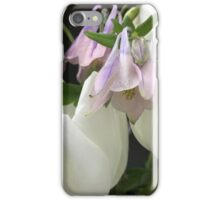 White tulips with columbines  iPhone Case/Skin