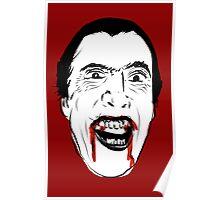 Dracula Line Art Poster