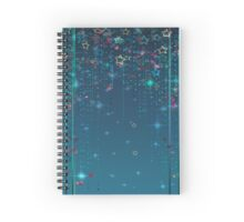 Magic fairy abstract shiny with stars Spiral Notebook