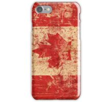 Canadian grunge flag - Canada iPhone Case/Skin