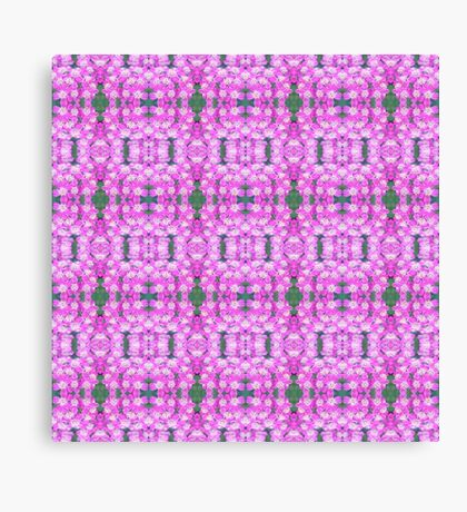 Tiny Clustered Pink Flowers Canvas Print
