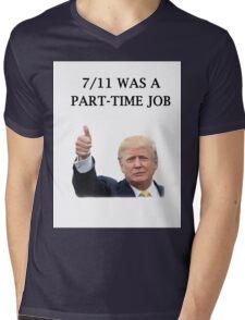 Seven Eleven Was a Part Time Job Mens V-Neck T-Shirt