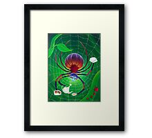 Spider Snack Framed Print