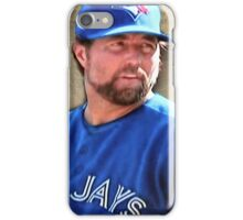 R.A. Dickie Waits To Wind Up A Knuckle Ball iPhone Case/Skin