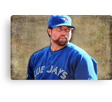 R.A. Dickie Waits To Wind Up A Knuckle Ball Canvas Print