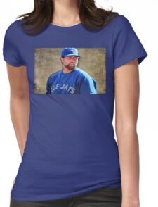 R.A. Dickie Waits To Wind Up A Knuckle Ball Womens Fitted T-Shirt