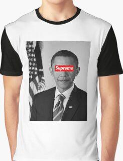 Supreme Obama Graphic T-Shirt