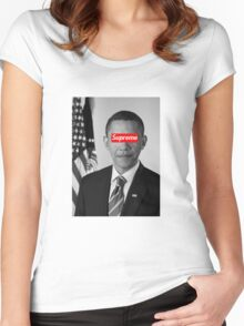 Supreme Obama Women's Fitted Scoop T-Shirt
