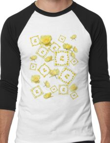 Yellow Rose Boquet Men's Baseball ¾ T-Shirt