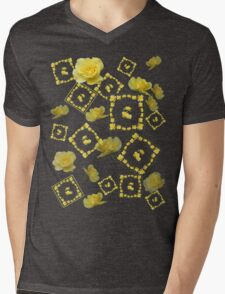 Yellow Rose Boquet Mens V-Neck T-Shirt
