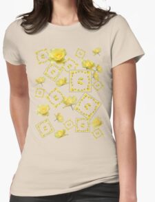 Yellow Rose Boquet Womens Fitted T-Shirt