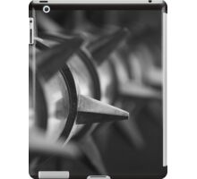 Black and White Spike iPad Case/Skin
