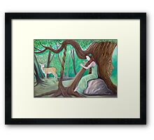 The Harpist and the Tree Framed Print