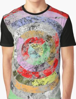 Marble Bullseye - Abstract Geometric Marble Patterned Art Graphic T-Shirt
