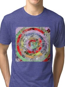 Marble Bullseye - Abstract Geometric Marble Patterned Art Tri-blend T-Shirt