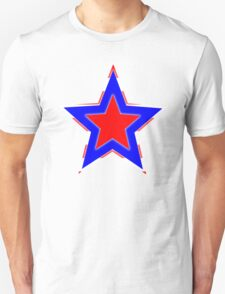 Stars of Red, Blue and White T-Shirt