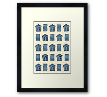 Beach Huts and Beach Towels Framed Print