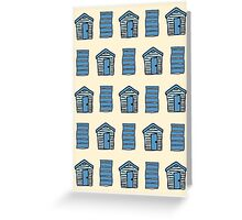 Beach Huts and Beach Towels Greeting Card