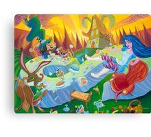 A mad tea-party Canvas Print