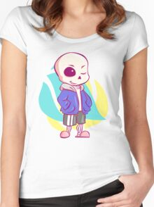 Sans chibi Women's Fitted Scoop T-Shirt