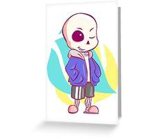 Sans chibi Greeting Card