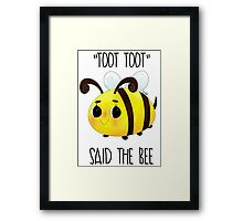 """""""Toot, Toot"""" Framed Print"""