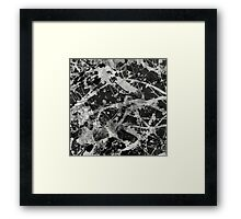 Splash Lattice - Black And White Abstract Framed Print