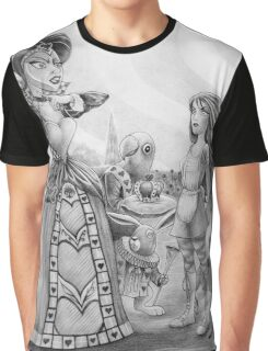 Off with their heads! (Alice and the Queen of Hearts) Graphic T-Shirt