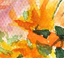 orange yellow white flower Sticker