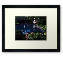 Garden of Water, Photo / Digital Painting Framed Print