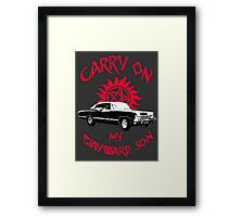 Carry on my wayward son Framed Print