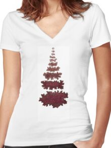 Growth and Decay Women's Fitted V-Neck T-Shirt