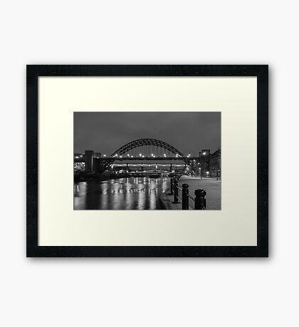 The Tyne Bridge at Night Framed Print