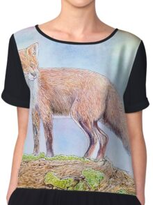 The fox in the woods Chiffon Top