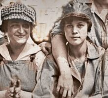 Women Laborers on the Wharf Sticker