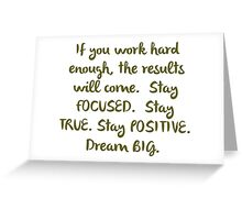 """Eye On The Prize"" Dream BIG Design Greeting Card"