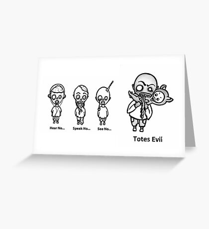 Zombies Unleashed Greeting Card