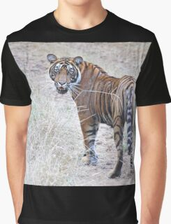 Young Male Tiger on The Prowl Graphic T-Shirt
