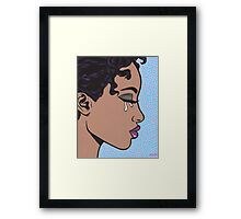 Crying Comic Girl Framed Print