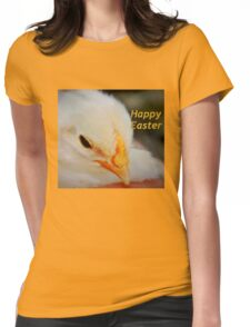 Happy Easter Chick Womens Fitted T-Shirt